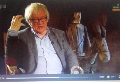 Film z wystawy Don Kichot Józefa Wilkonia w Galerii Opera w Teatrze Narodowym