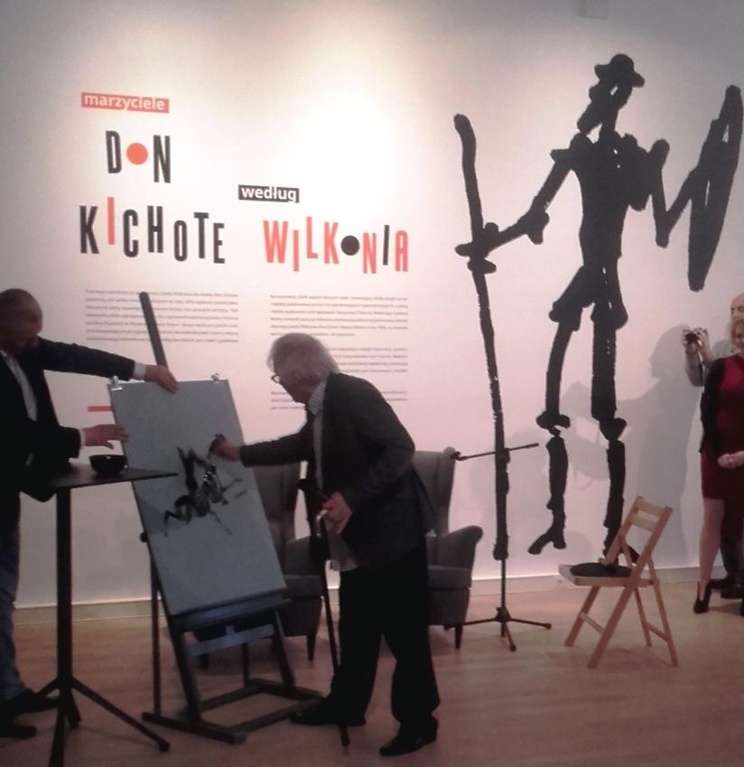 """""""Marzyciele Don Kichot według Józefa Wilkonia"""" wystawa w Muzeum Miasta Gdyni(28.04 do 11.06 2017)"""