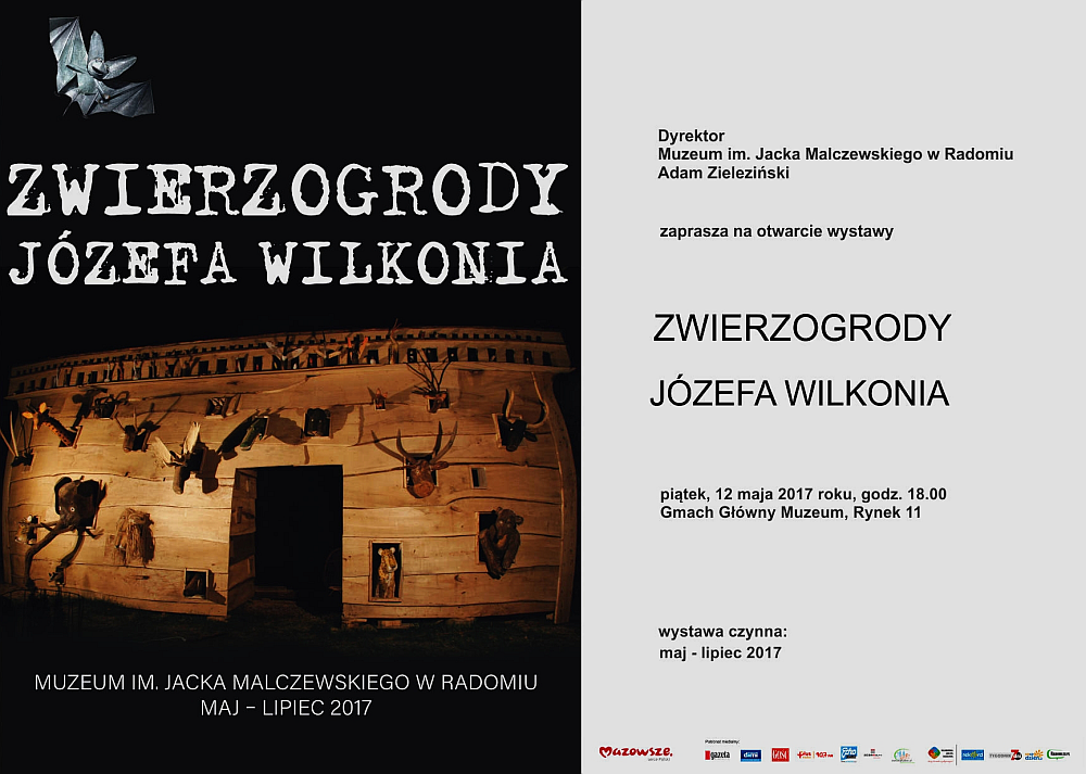 """Wystawa """"Zwierzogród Józefa Wilkonia"""" w Muzeum Jacka Malczewskiego w Radomiu 12.05 do 18.07"""