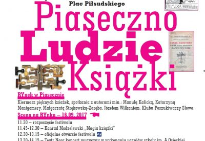 """Festiwal Pięknej Książki """"Piaseczno-Ludzie-Książki 2017"""""""