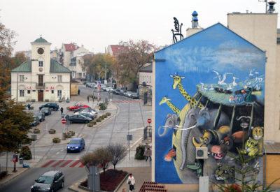 Mural Józefa Wilkonia w Piasecznie
